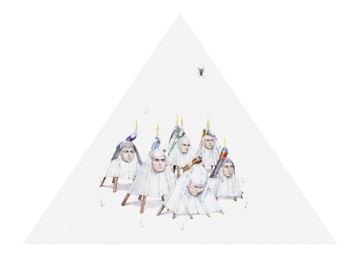 Abiertamente declaradas, 2018. Acuarela, 75 x 110 cm