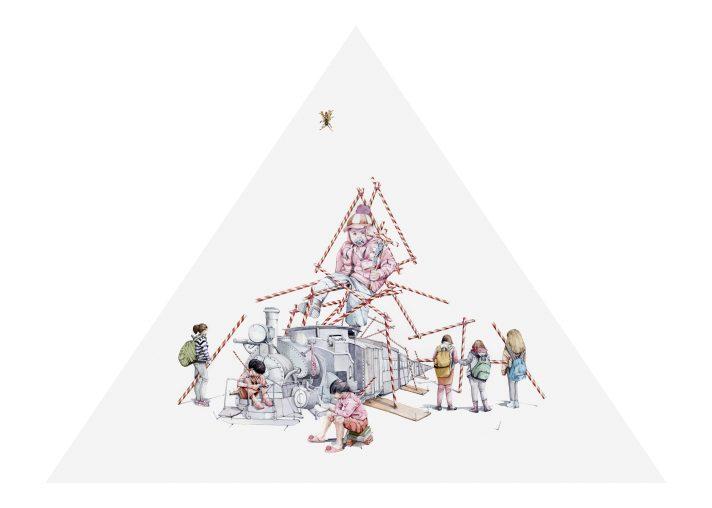 Administradora de cereal, 2018. Acuarela, 75 x 110 cm