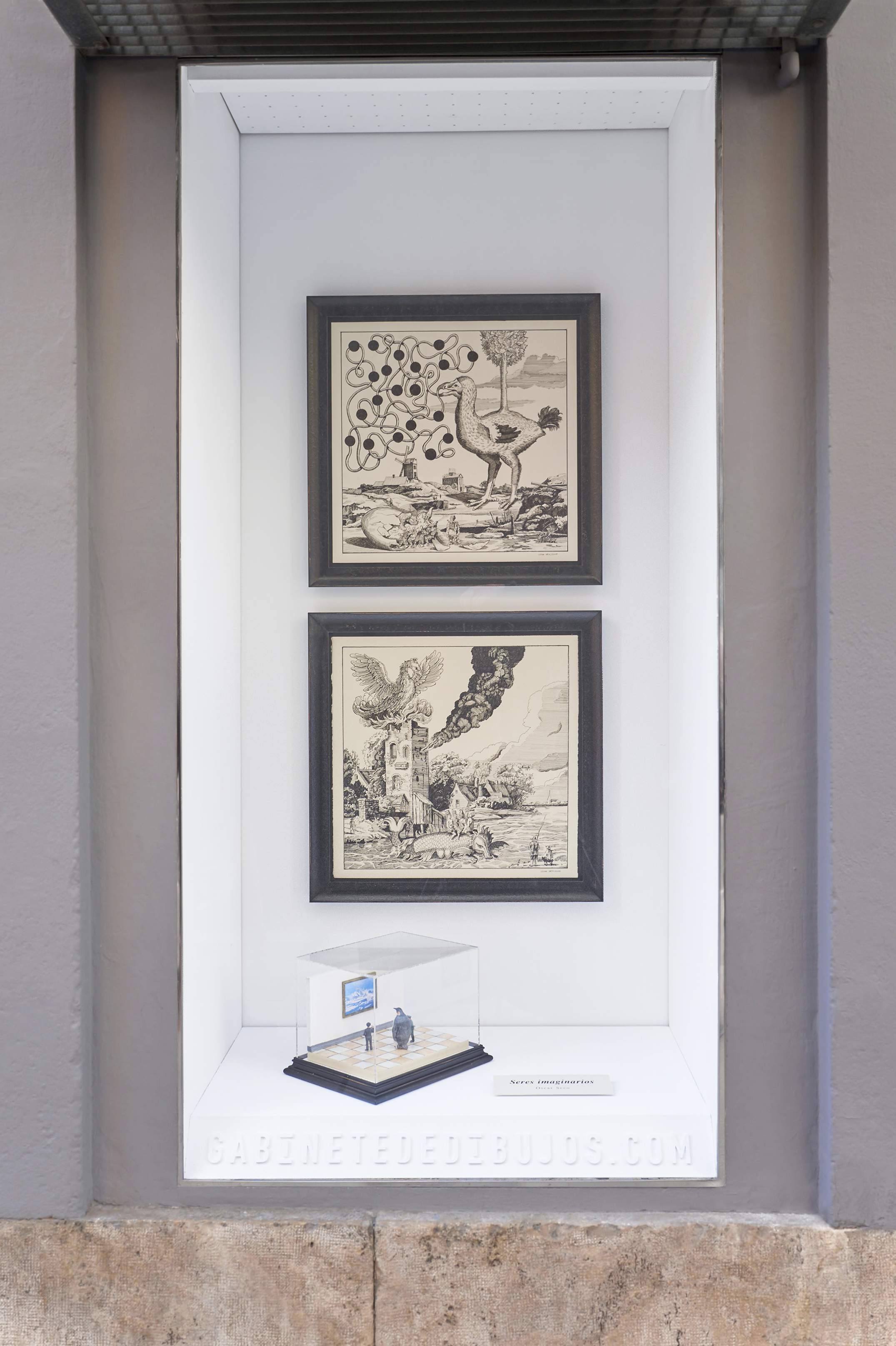 SERES IMAGINARIOS de Óscar Seco en el Gabinete de dibujos