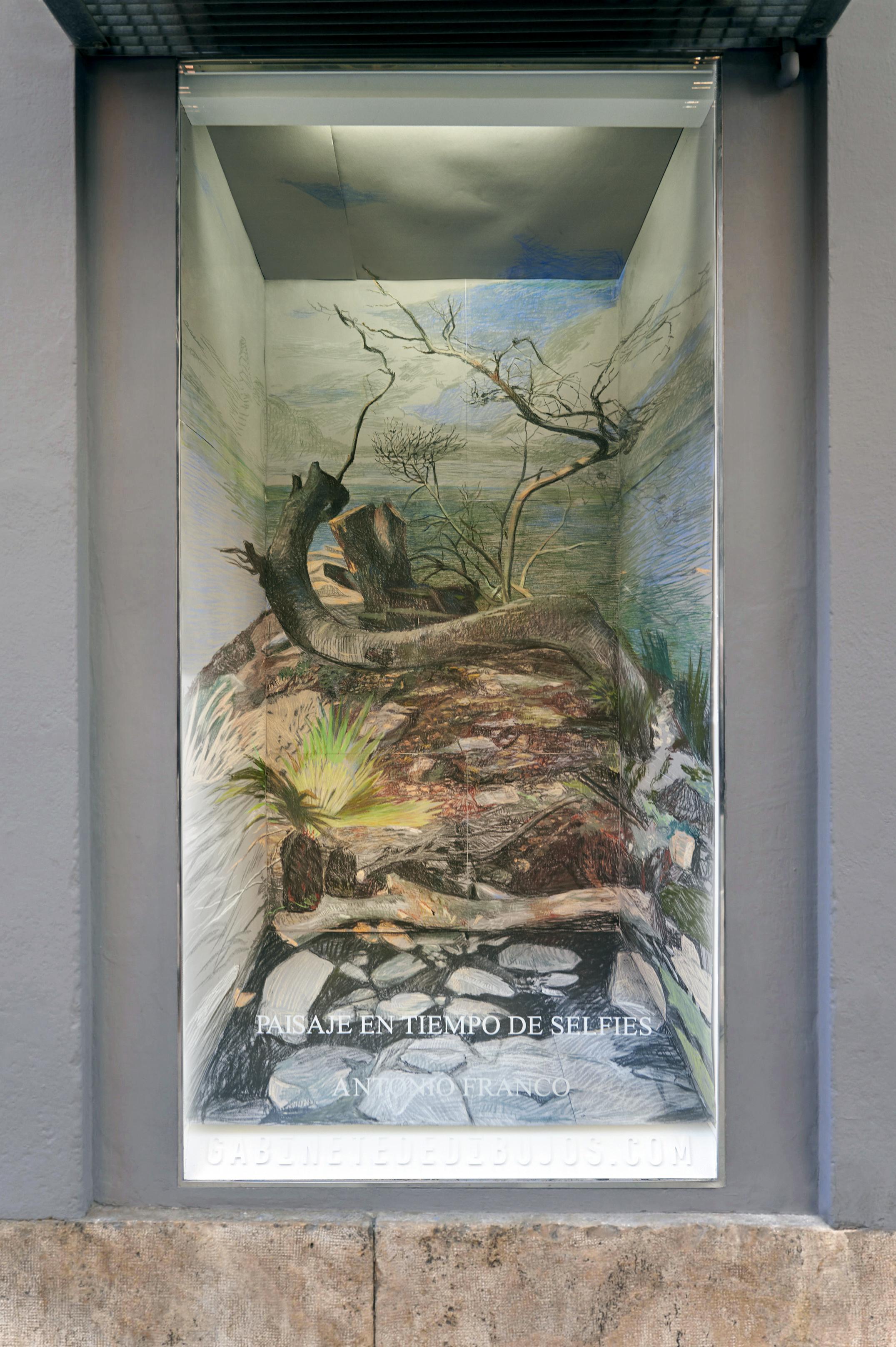 PAISAJE EN TIEMPO DE SELFIES de Antonio Franco en el Gabinete de dibujos