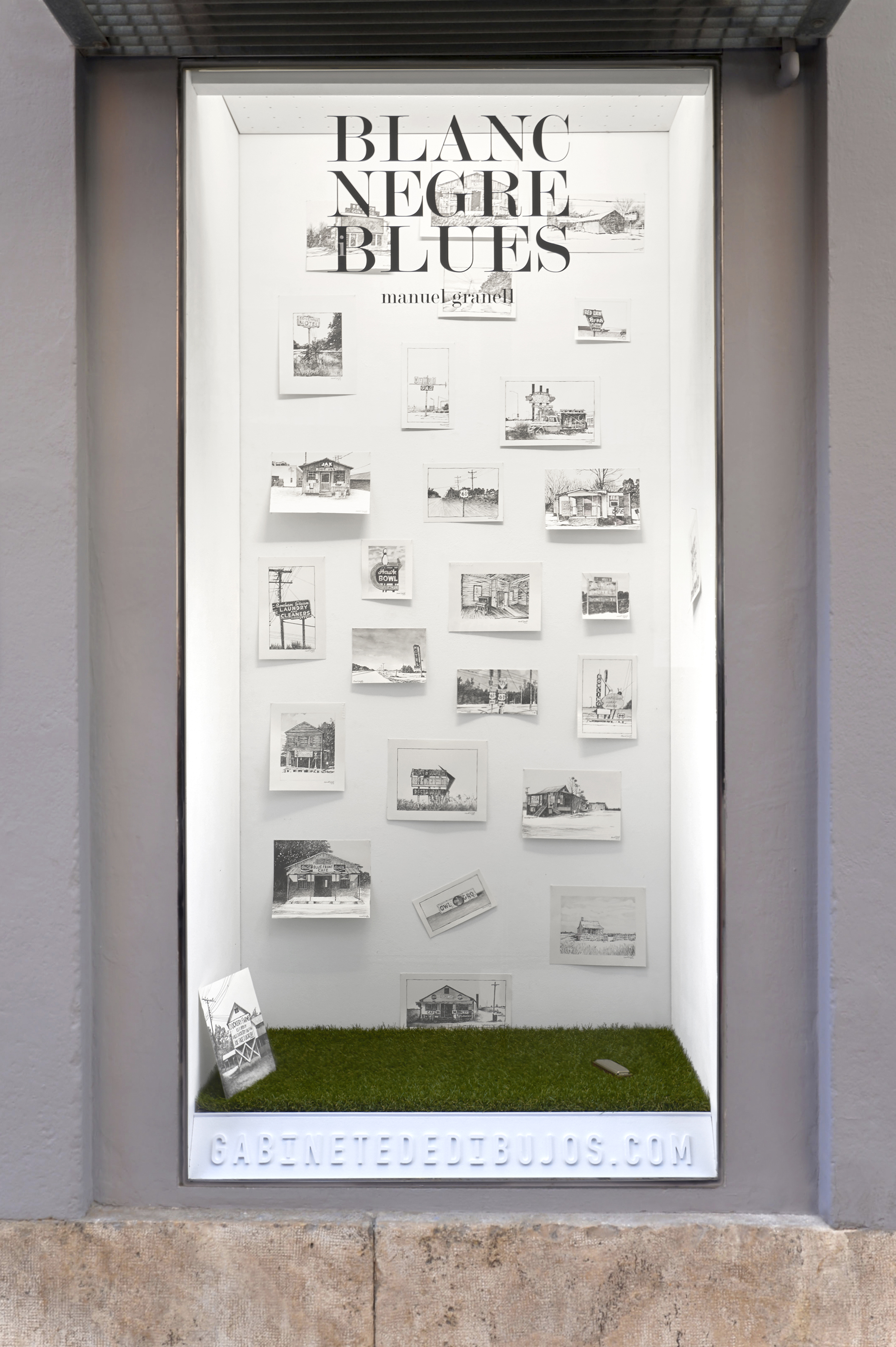 BLANC, NEGRE I BLUES de Manel Granell en el Gabinete de dibujos