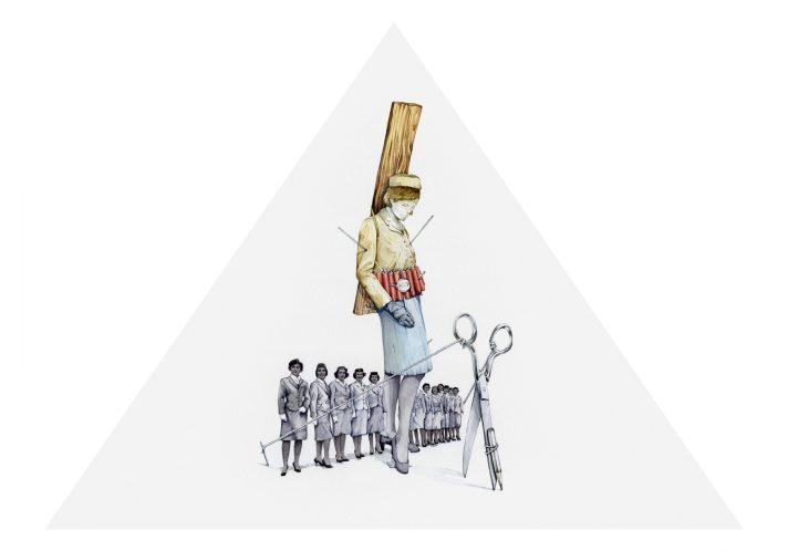 Actos encapsulados, 2018. Acuarela, 50 x 65 cm